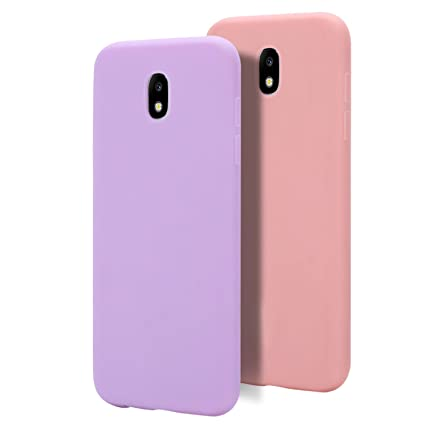 MoEvn 2 X Galaxy J5 2017 Funda, Carcasa para Samsung J5 2017, Case Cover TPU Suave Silicona, Slim Anti Skid Anti Rasguño Color Gel Funda para Samsung ...