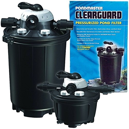 Pondmaster ClearGuard Pressurized Filter w/UV Pondmaster ClearGuard Pressurized Filter w/UV ClearGuard Model 5,500 by PondMaster