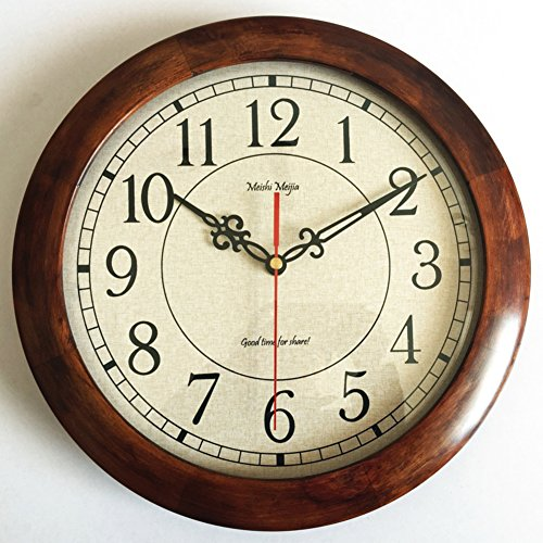 Mute solid wood wall clock,Minimalist japanese style Bedroom kids room Living room wall clock Review