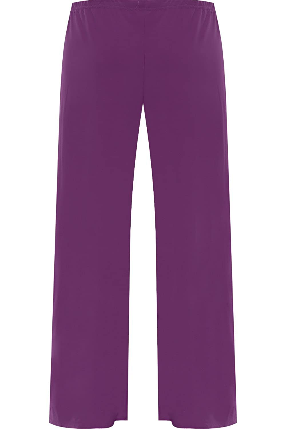 0a87441c638 WearAll Womens Plus Size Palazzo Trousers Baggy Flared Wide Leg Pants   Amazon.ca  Clothing   Accessories