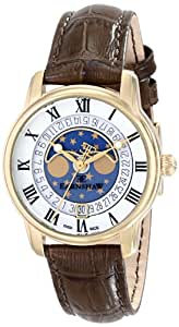 Thomas Earnshaw Women's ES-0021-02 Longitude Analog Display Swiss Quartz Brown Watch