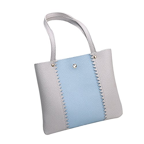Bucket Shoulder Bag Crossbody Color Fashion Gift Block Party Single Grey Lady CqgnwYH