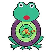 Kids Dartboard Toy Cartoon Dart Board Set,Frog