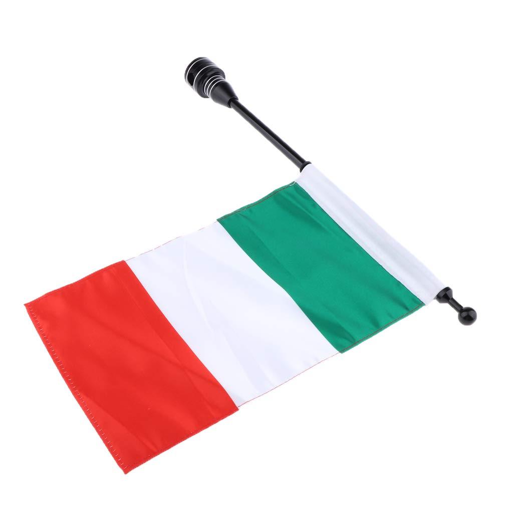 5 Sharplace Bandiera Paese Portabagagli Con Asta Portabandiera Per Moto Cruiser
