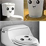 Bazaar Cute Smiling Face Stickers Bathroom Waterproof Toilet Stickers Closestool Stickers