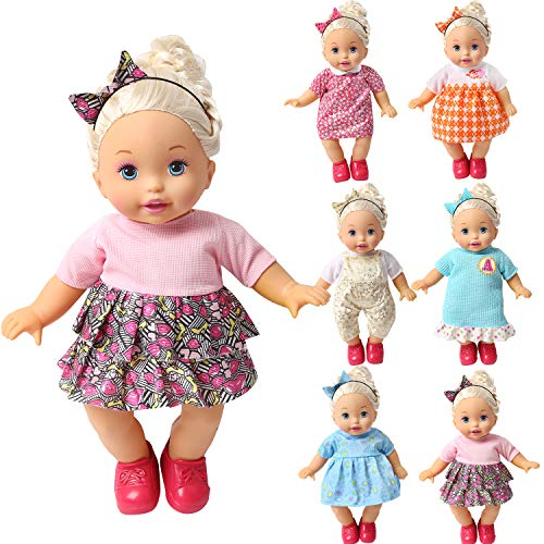 bbww Set of 6 Handmade Lovely Baby Doll Clothes Dress Outfits Costumes for 14-15-16 Inch American Girl Cloth Holiday