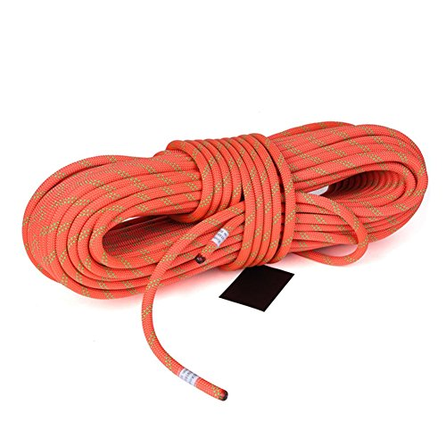 MaxS Climbing Auxiliary Rope Static Rope Safety Rescue Rope Diameter 10mm (Orange, Length:30Meter)