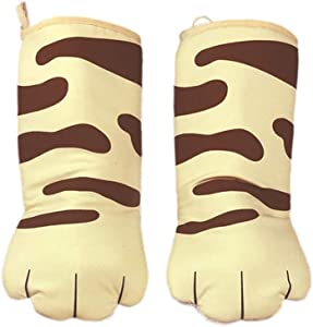 Oven Mitts, Cat Paws Oven Mitts Heat Resistant Non-Slip Grip Set of 2, for Grilling & Baking Cooking Gloves BBQ Oven Glove Microwave BBQ Kitchen Tools Gifts,C