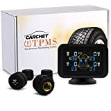 CARCHET TPMS Tire Pressure Monitoring Intelligent System+4 External Sensors LCD Sucker