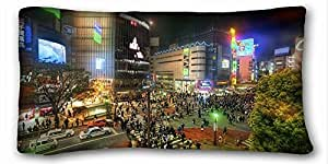 The Lively Town Coming Going Hello Night Zippered Pillow Case 16x24 (Twin sides)