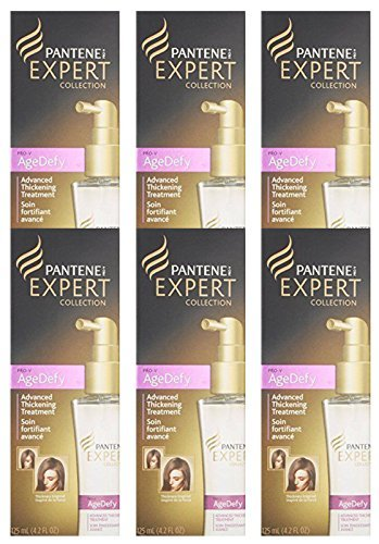 PANTENE EXPERT Collection, AgeDefy Advanced Thickening Treatment, 4.2 Ounces (Pack of 6) (Best Hair Thickening Treatment Reviews)