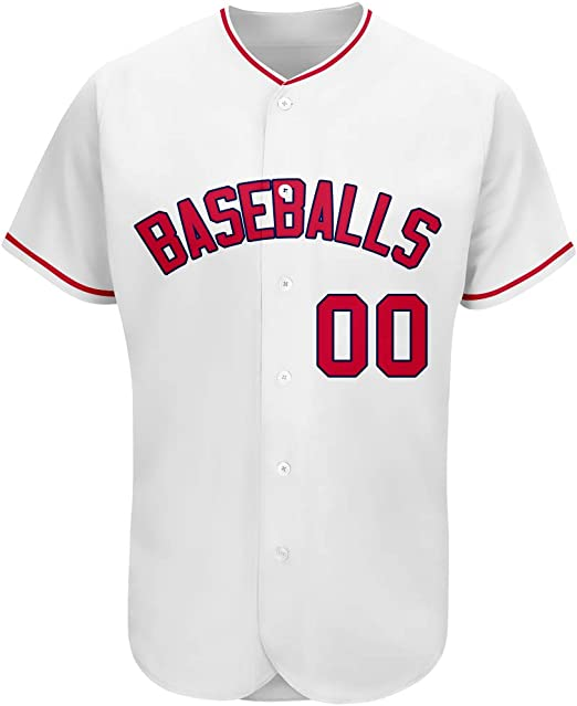 Custom/Embroidered/Baseball/Jerseys/Button/Down, Design Mesh Sport Shirt Breathable for Adult//Ladies//Kids//Pre-School