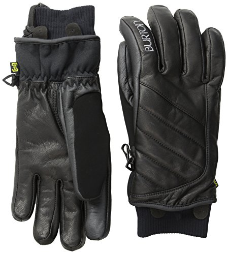 Burton Women's Favorite Leather Gloves, True Black, (Burton Leather Glove)