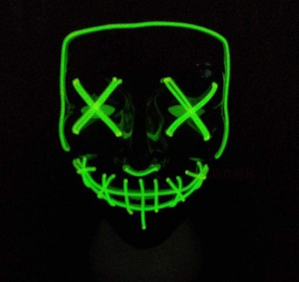 XIBAO The Purge LED Light Up Mask Festival, Horror EL máscara de ...