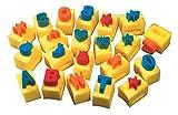 School Smart Numeric Handle Sponges - 2 x 3 x 3 1/2 inches - Set of 10