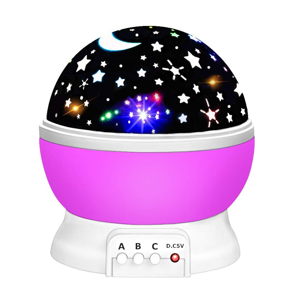Best Gifts DEDY Lighting Night Light for Kids Rotating Projector