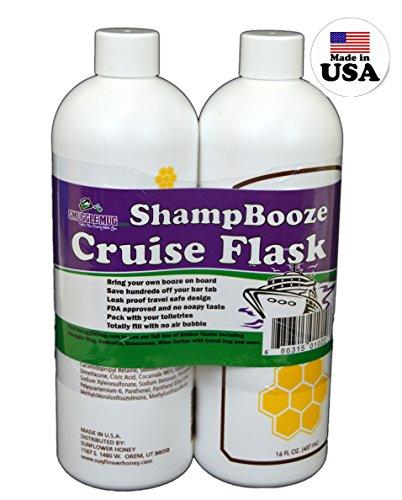 ShampBooze Cruise Flasks (two 16.9 oz - Luggage For Alcohol