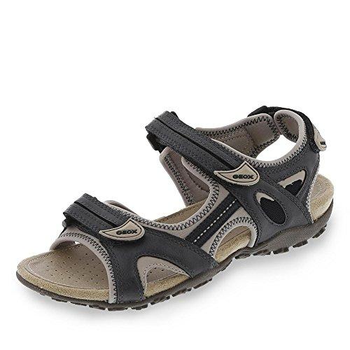 Geox - Sandalias de vestir de Piel para mujer azul oscuro