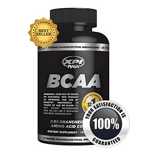 XPI BCAA cru - 150 gélules - meilleurs BCAA Complex - 2:1:1 ramifiée chaine d'acides aminés complexe - réduction des temps de récupération et de masse musculaire maigre augmentation - créatine et des acides aminés pour Support Intra-entraînement - meilleu