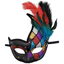 Flywife Feather Masquerade Mask Halloween Mardi Gras Cosplay Costumes Venetian Party Mask