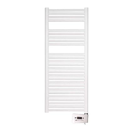 farho - Radiador Toallero Eléctrico Blanco Nova, con 800W (Medidas : 1200 x 500