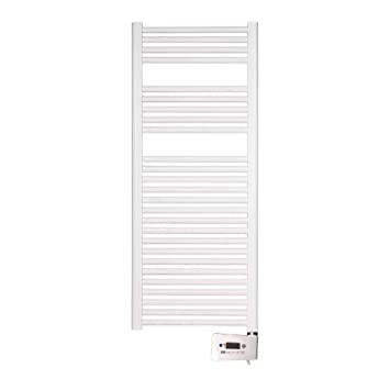 farho - Toallero Eléctrico Serie Nova Blanco, Radiador Toallero Digital Programable, con 800 Watios - Medidas (120 x 50 cm): Amazon.es: Hogar