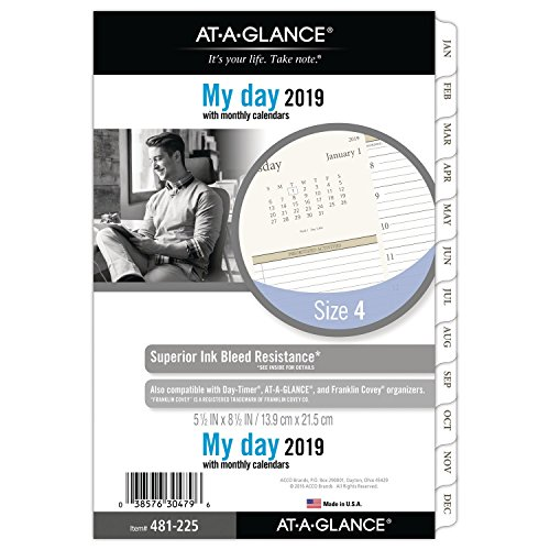 AT-A-GLANCE 2019 Refill, Day Runner, 5-1/2