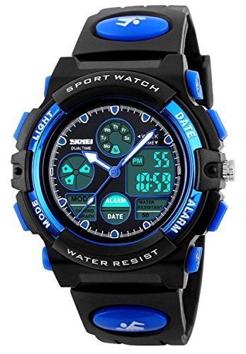 (Kid Watch 50M Waterproof Sport LED Alarm Stopwatch Digital Child Quartz Wristwatch for Boy Girl)