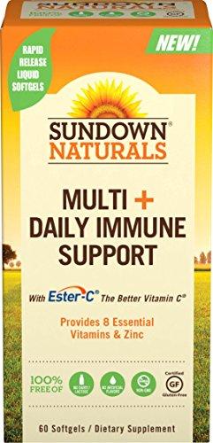 Sundown Naturals® Multi+Daily Immune Support, 60 Softgels