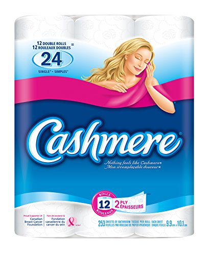 Cashmere Double Roll Bathroom Tissue, 2-ply, 253 Sheets per Roll - 12 Rolls