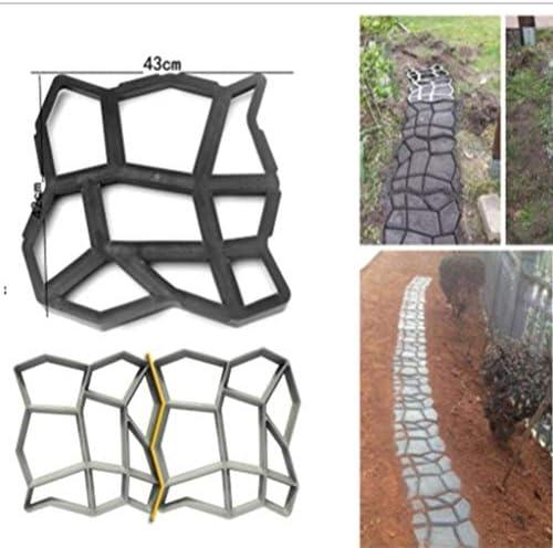 LEEDY Molde de plástico para crear losas de hormigón para el suelo ...