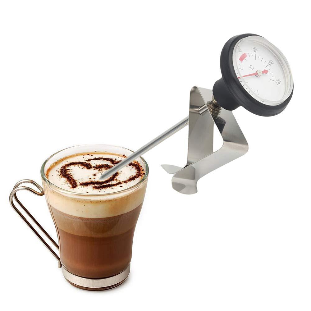 NAttnJf Termometro per caffè Termometro Professionale per Latte in Acciaio Inox da Cucina