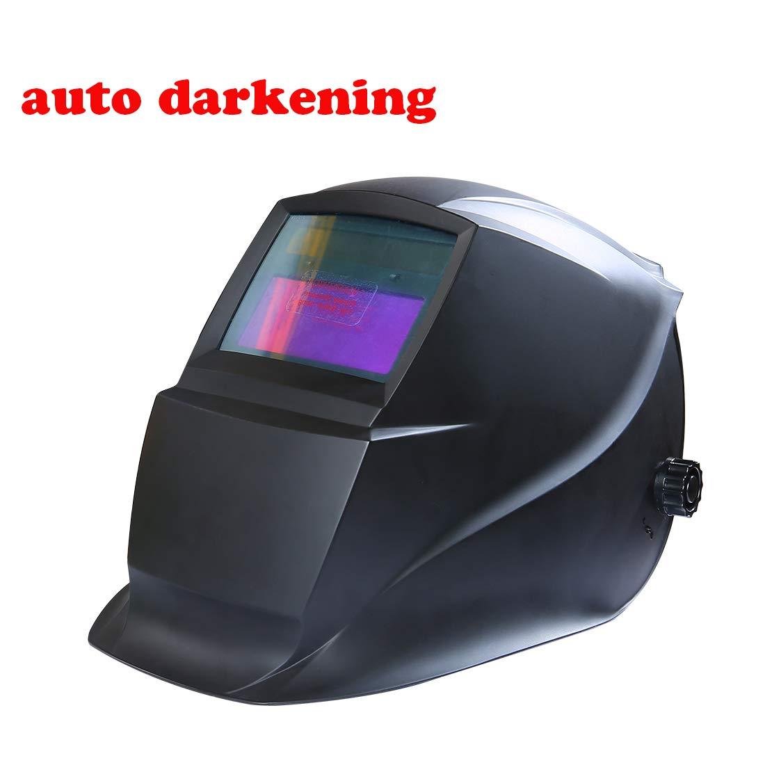 HARVET Welding Helmet Auto Darkening Helmet with 1/1/1/2 Optical Class, Wide Viewing Area for Tig Mig MmaPlasma Welding and Grinding by HARVET