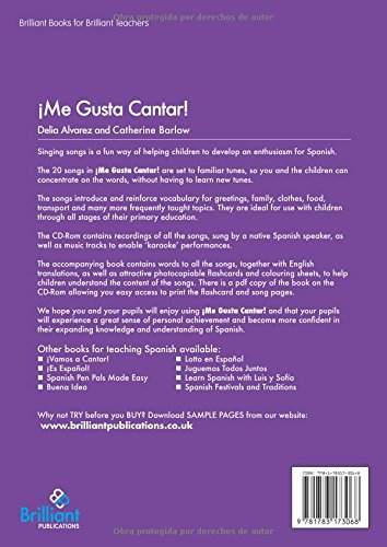 Me Gusta Cantar: 20 Spanish Songs for Use in Primary Schools