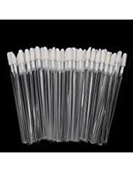 300 Pieces Disposable Lip Brushes Premium Lipstick Gloss Wands Applicator Makeup Tool Kits, Clear Handle