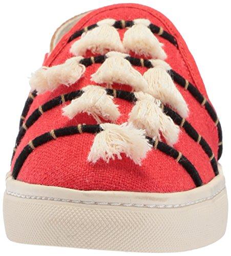Soludos Femme Slip À Baskets Rouge / Beige