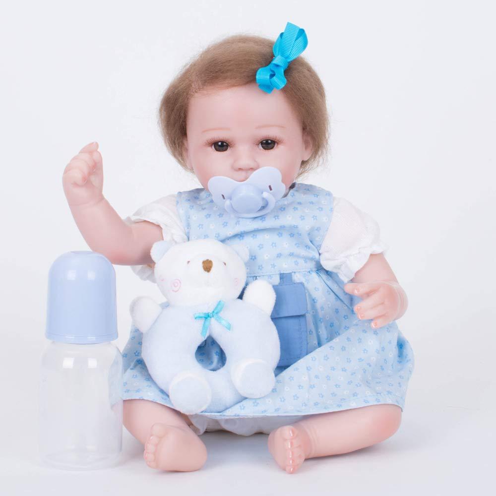 QWER Reborn Babypuppen Mädchen Simulation Doll Spielzeug Kinder Silikon Niedliche Puppe Neugeborenen Foto Stützen