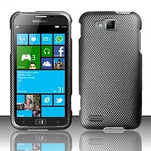 For Samsung ATIV S T899m (T-Mobile) Rubberized Design Cover Case - Carbon Fiber
