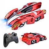 Fun Little Toys Remote Control Wall Climbing Car-Gravity Defying RC Car in Assorted Colors for Kids Electric Sport Racing Car Toy (Red)