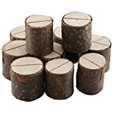 Rustic Wedding Table Number Holder, Place Card Stand Name Tag Holder Woodland Wedding Centerpieces Birch Decor ,Photo Picture Memo Clips Holder,10pcs