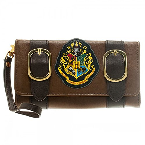 Harry Potter Satchel Fold Wallet 4 x 8in, Brown, (Quidditch Costume Slytherin)