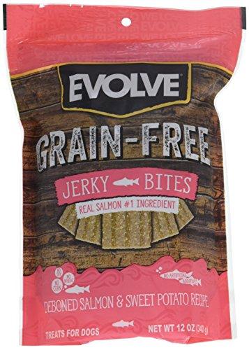 Evolve Grain Free Deboned Salmon & Sweet Potato Recipe Jerky Bites, Small