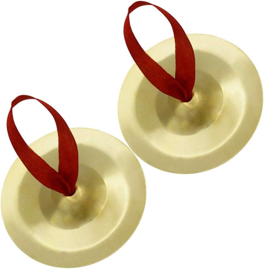 SUPVOX platillos de dedo danza del vientre zills de dedo mini platillos de dedo fabricante de ritmo de percusi/ón musical para fiesta de noche de bailarina dorado