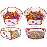Hexagon Polka Dot Children Twist Playpen w/ Safety Meshing for Child Play Visibility & Carry Tote - Hexagon Pen