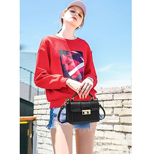 Korean Handbag Female Messenger Square Wild Jiute Leather Fashion Bag Shoulder Ms Wave Small 0q4CwxaS