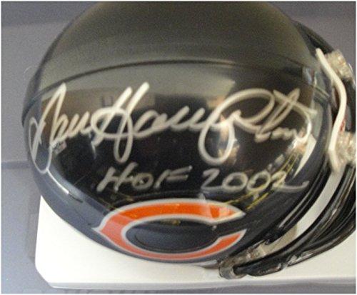 (Dan Hampton Hand Signed Autographed Mini Helmet Chicago Bears HOF 2002)