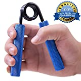Metal Hand Gripper by xFitness | The Best Grip, Forearm & Finger Exerciser | Singer Gripper in 5 Colors, Resistance Level From 50 lbs. to 350 lbs. with Redefined Ergonomic Knurling (Blue, 150 LBS)