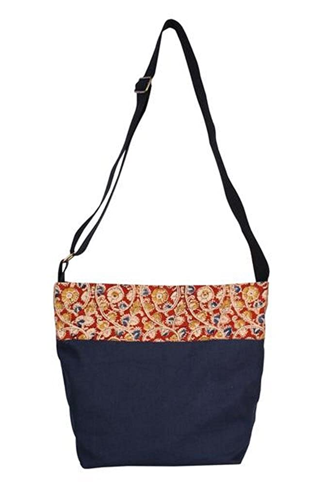 6093bb4bedc6 Freeset Horizon Kalamkari Crossbody Bag 100% Organic Cotton Canvas