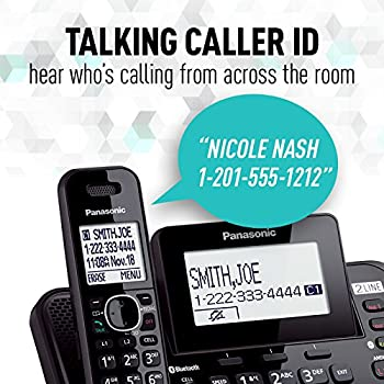 Panasonic Kx-tg9542b Link2cell Bluetooth Enabled 2-line Phone With Answering Machine & 2 Cordless Handset 8