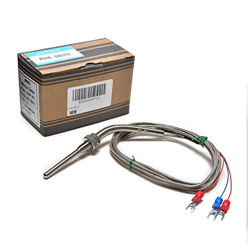 MYPIN Waterproof Stainless Steel PT100 RTD Thermocouple Thermistor Sensor  Probe, Thread with Insulation Lead Wire for PID Temperature Controller